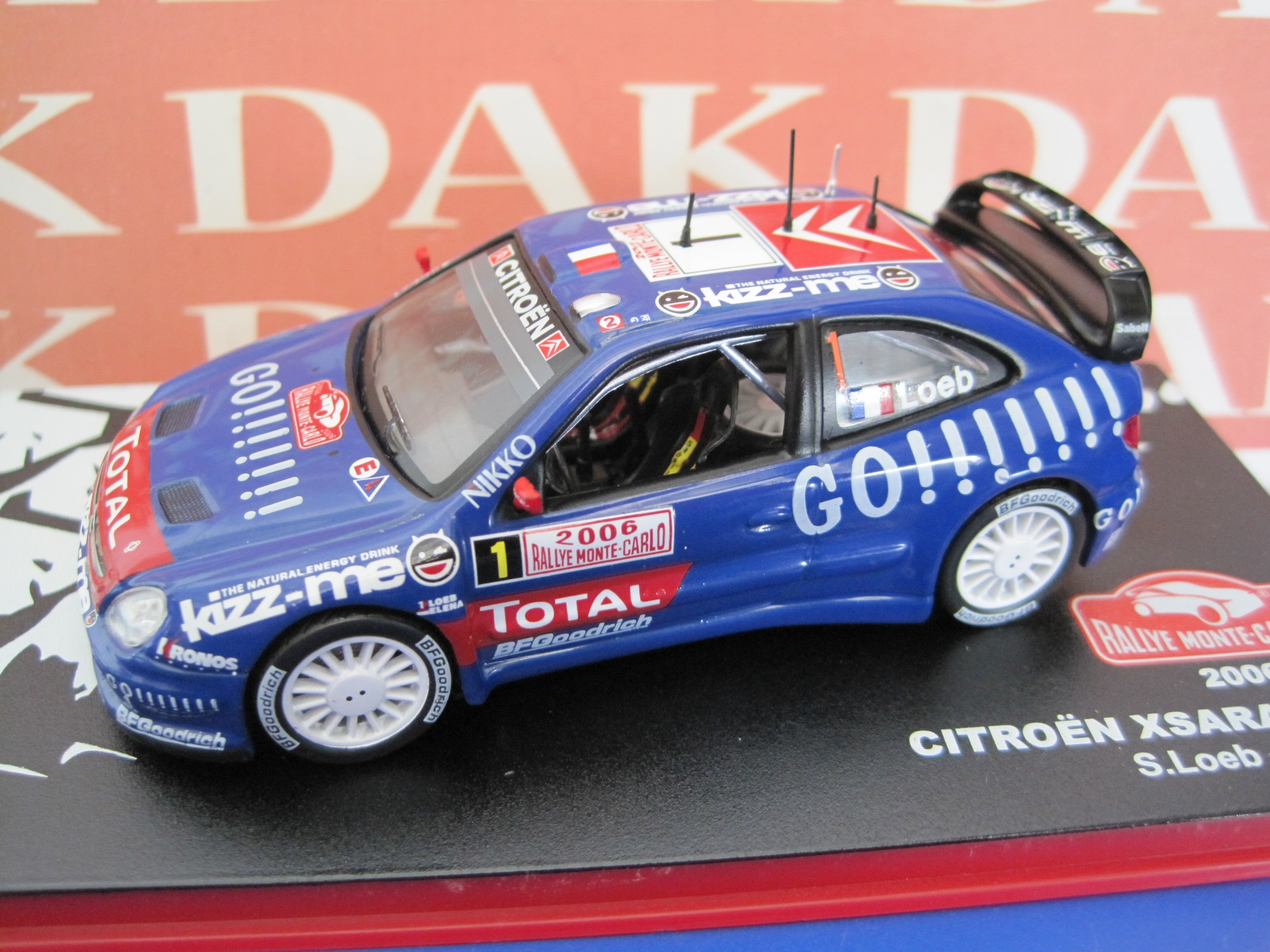 Die cast 1//43 Modellino Auto Citroen Xsara WRC Rally Sanremo 2001 S.Loeb