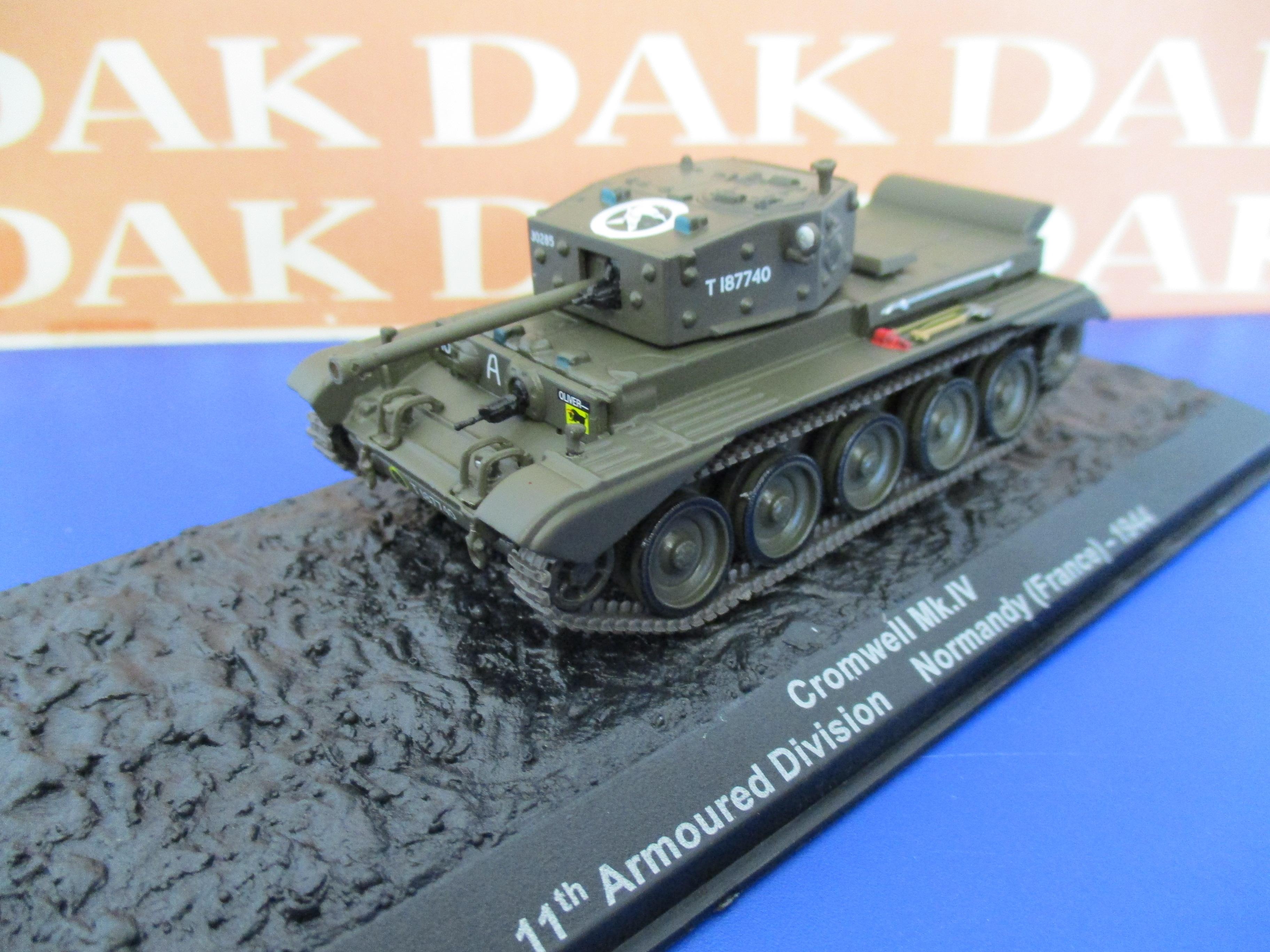 Normandy 1944 Die cast 1//72 Modellino Carro Armato Tank Cromwell MK.IV 11th A.D