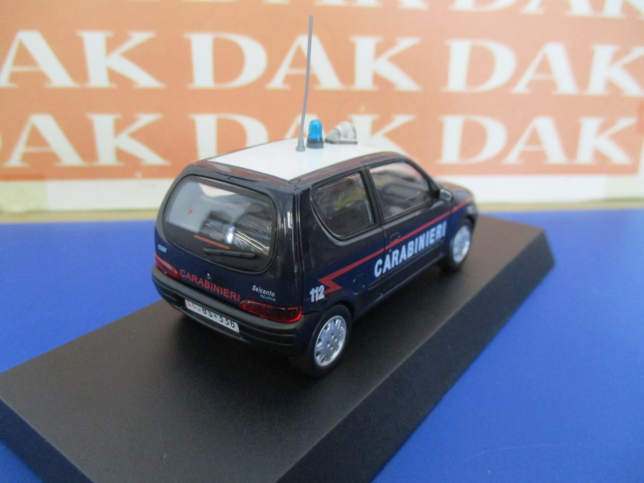 Cr22h car 1//43 carabinieri fiat 600 elettra 2003