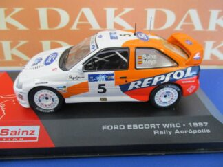 Die cast 1//43 Modellino Auto Ford Escort RS WRC Rally Acropolis 1997 C.Sainz Pas