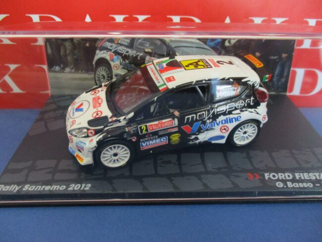 Die cast 1//43 Modellino Auto Ford Fiesta RRC Rally Sanremo 2012 G.Basso
