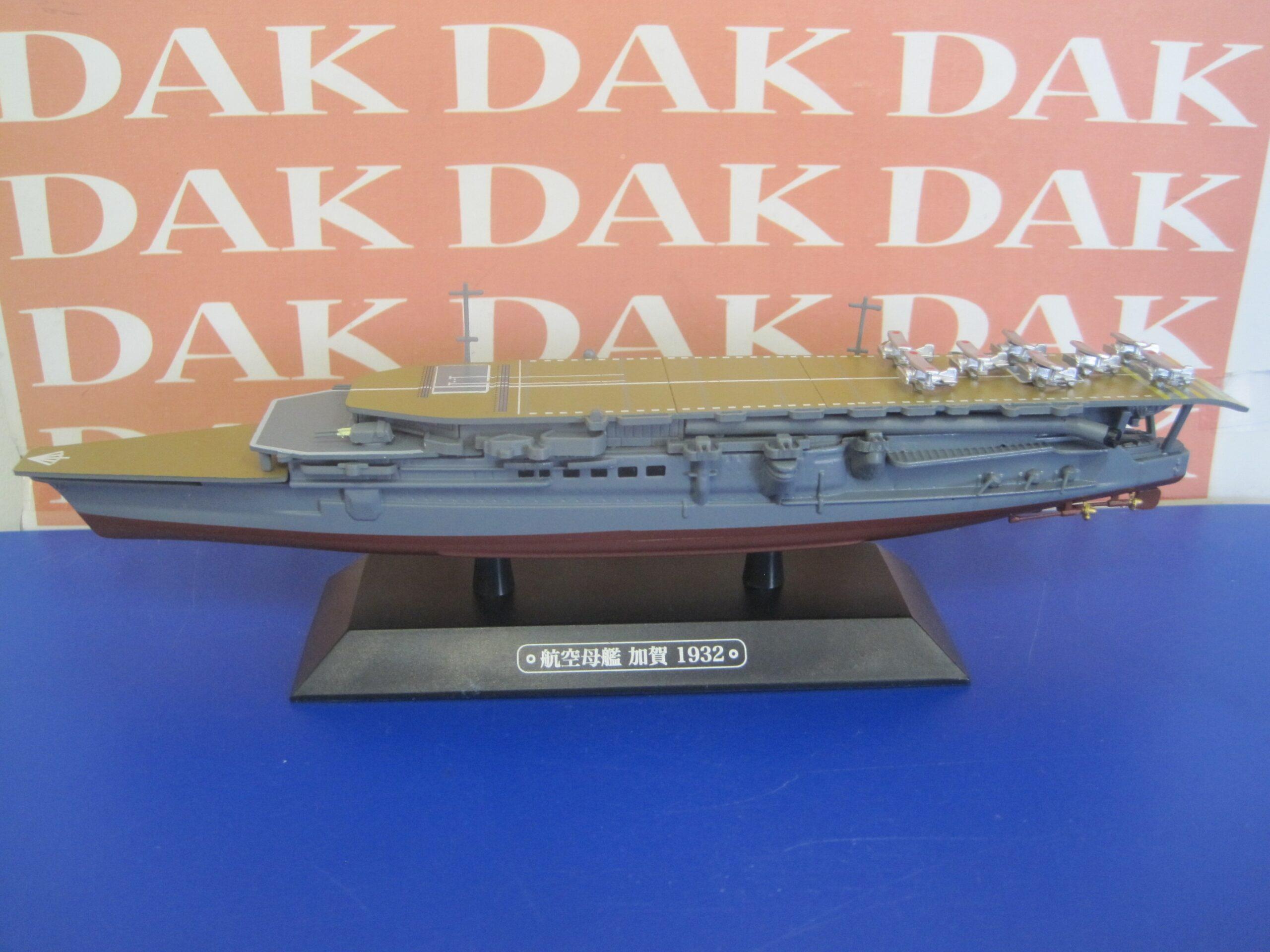Die cast 1//1100 Nave Ship Portaerei Aircraft Carrier Portaerei Kaga Japan 1932