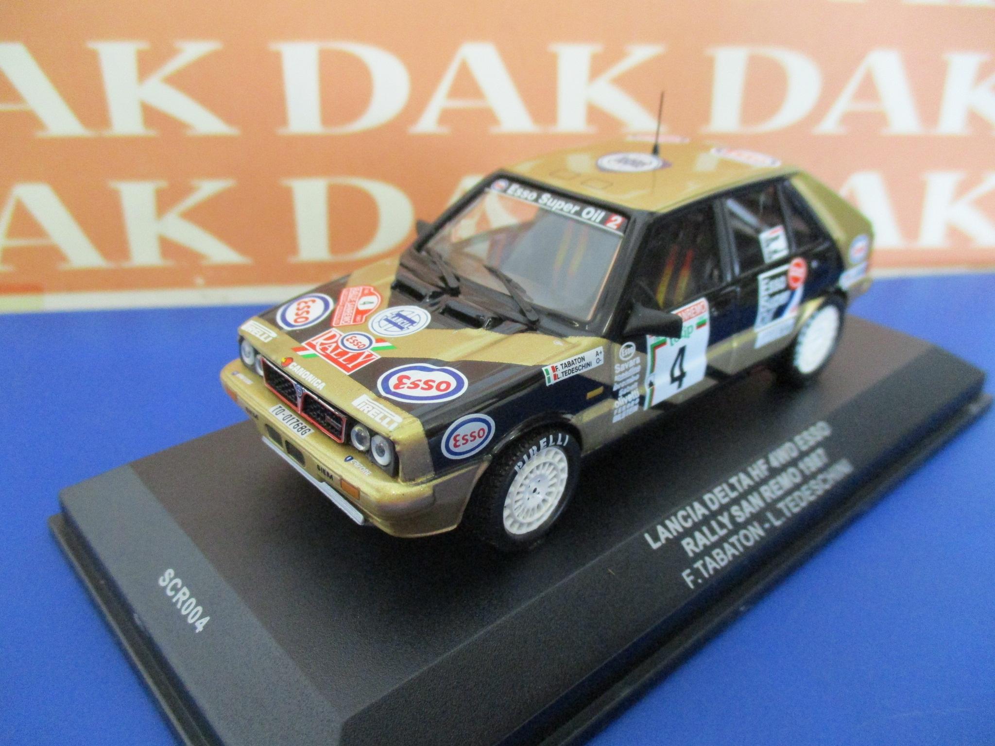 Die cast 1//43 Modellino Auto Lancia Delta HF 4WD Rally Monte Carlo 1987 Biasion