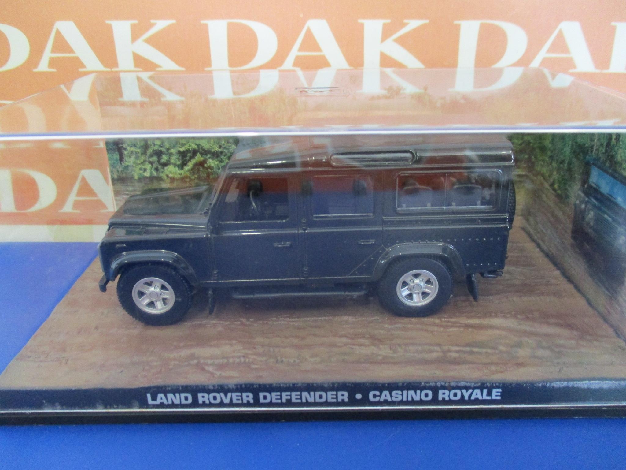 Die cast 1//43 Modellino Auto 007 James Bond Land Rover 110 Defender Casino