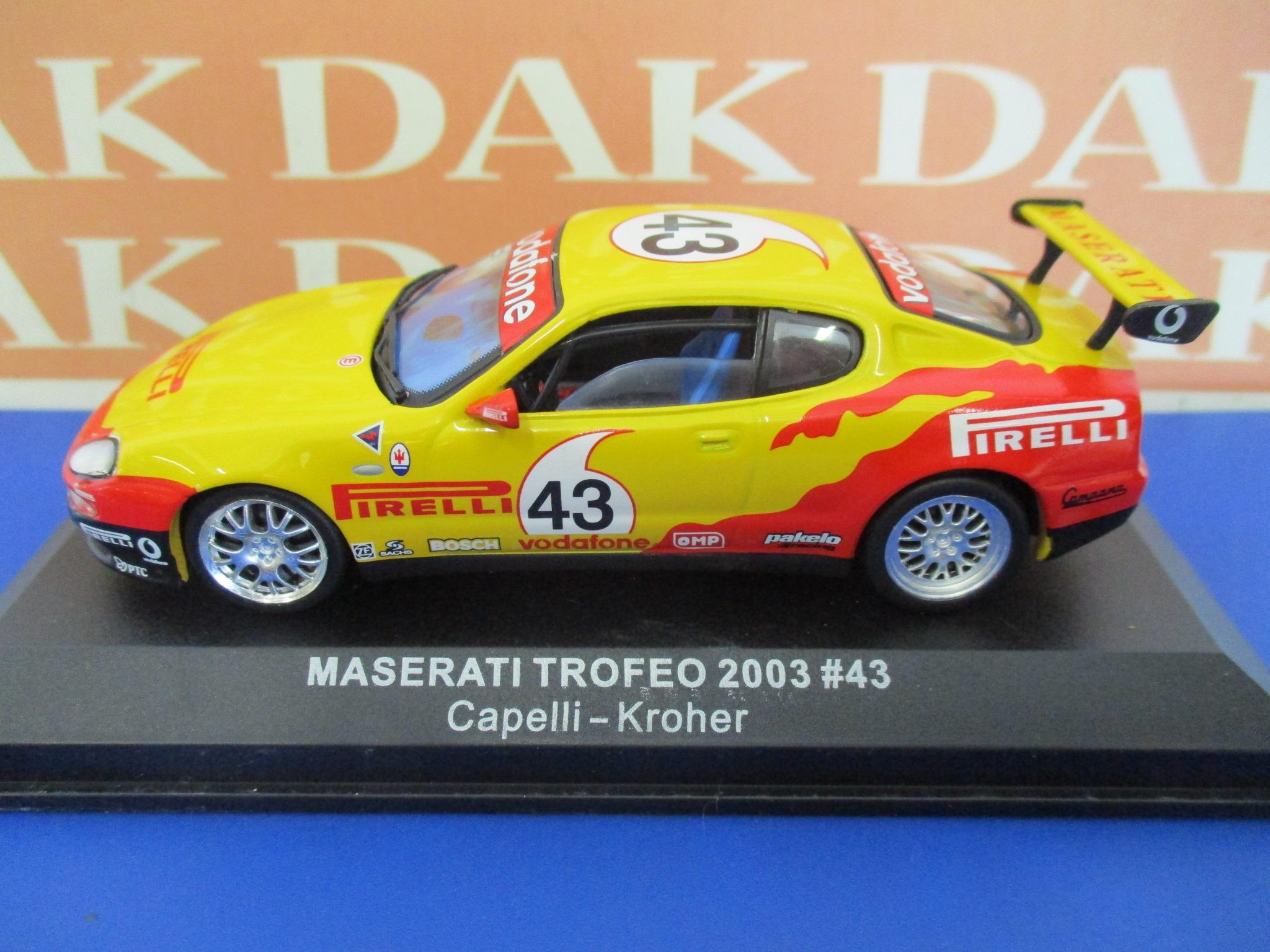 Die cast 1//43 Modellino Auto Maserati Coupe Trofeo 2003 I.Capelli