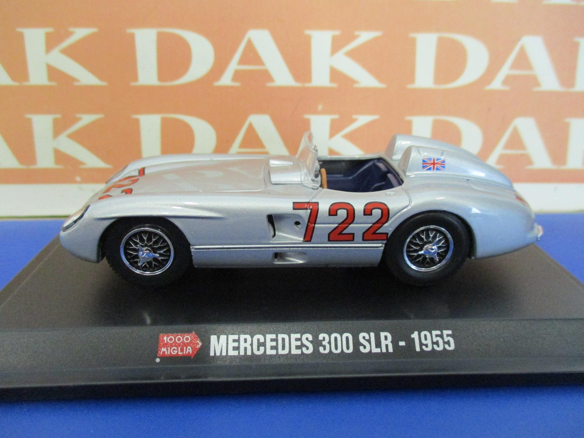 Die cast 1//43 Modellino Auto Mercedes 300 SLR Mille Miglia 1955 S.Moss