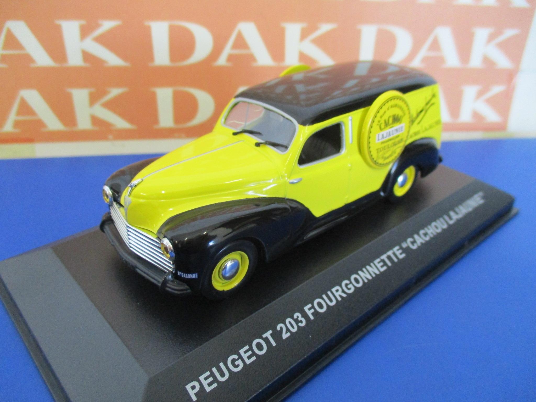Die cast 1//43 Modellino Pubblicitario Peugeot 203 Furgonato Cachou Lajaunie