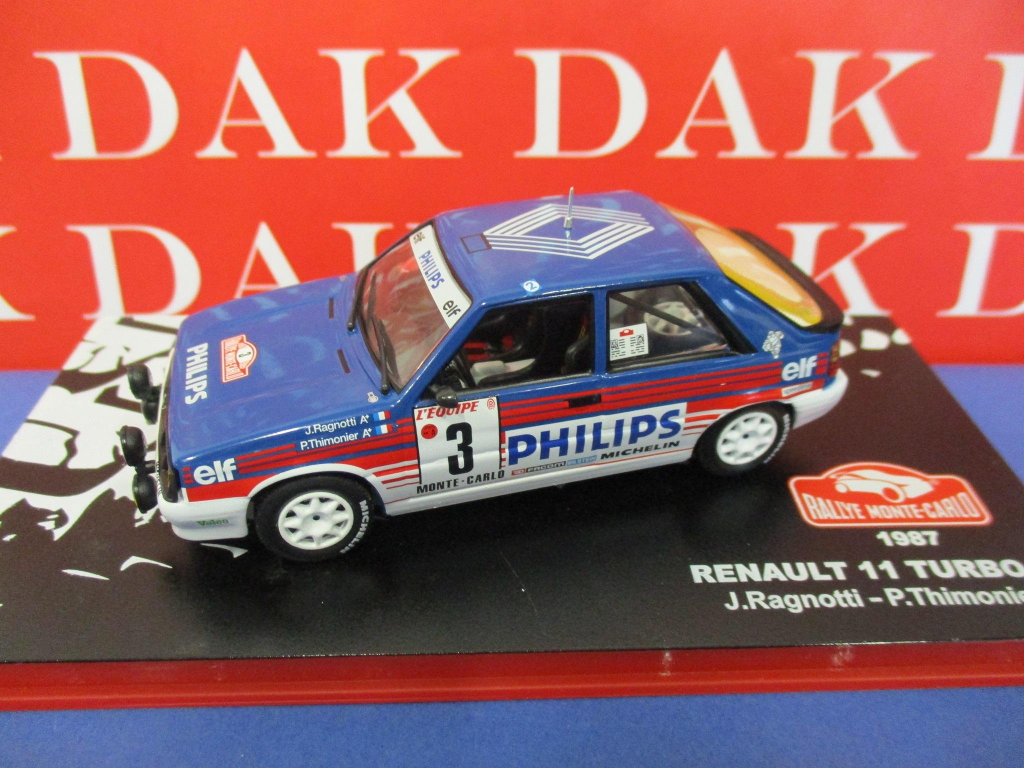 Die Cast 1 43 Modellino Auto Renault 11 Turbo Rally Monte Carlo 1987 J Ragnotti Ebay
