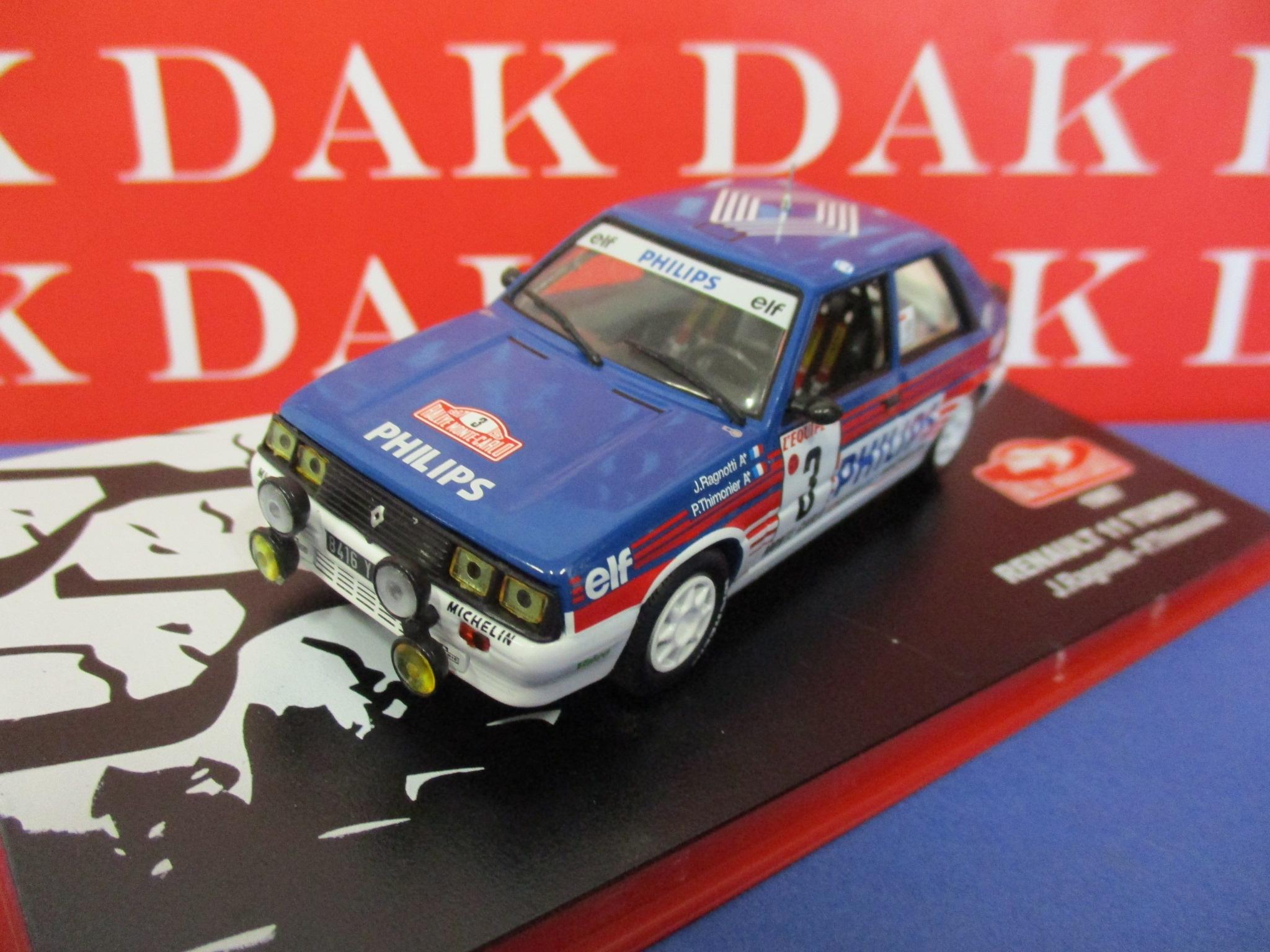Die Cast 1 43 Modellino Auto Renault 11 Turbo Rally Monte Carlo 1987 J Ragnotti