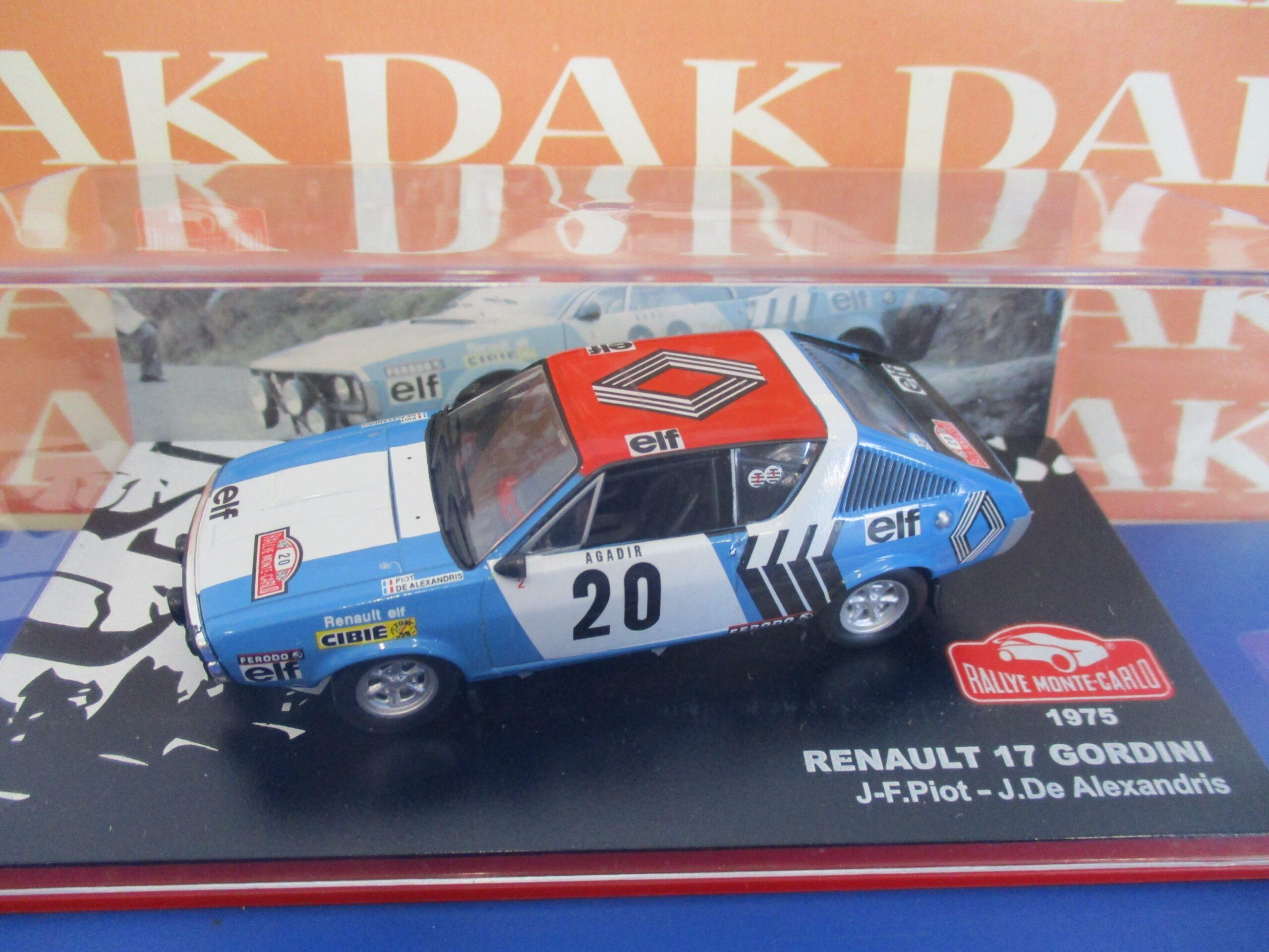 Renault R17 Gordini #20 Rally Montecarlo 1975 Piot EDICOLA 1:43 ED2235025 Miniat