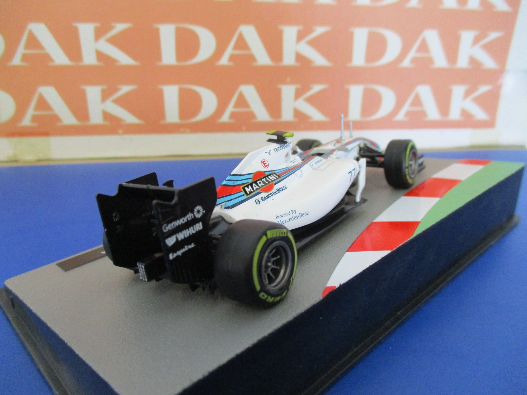 Die cast 1//43 Modellino Auto F1 Williams FW36 2014 Martini V.Bottas