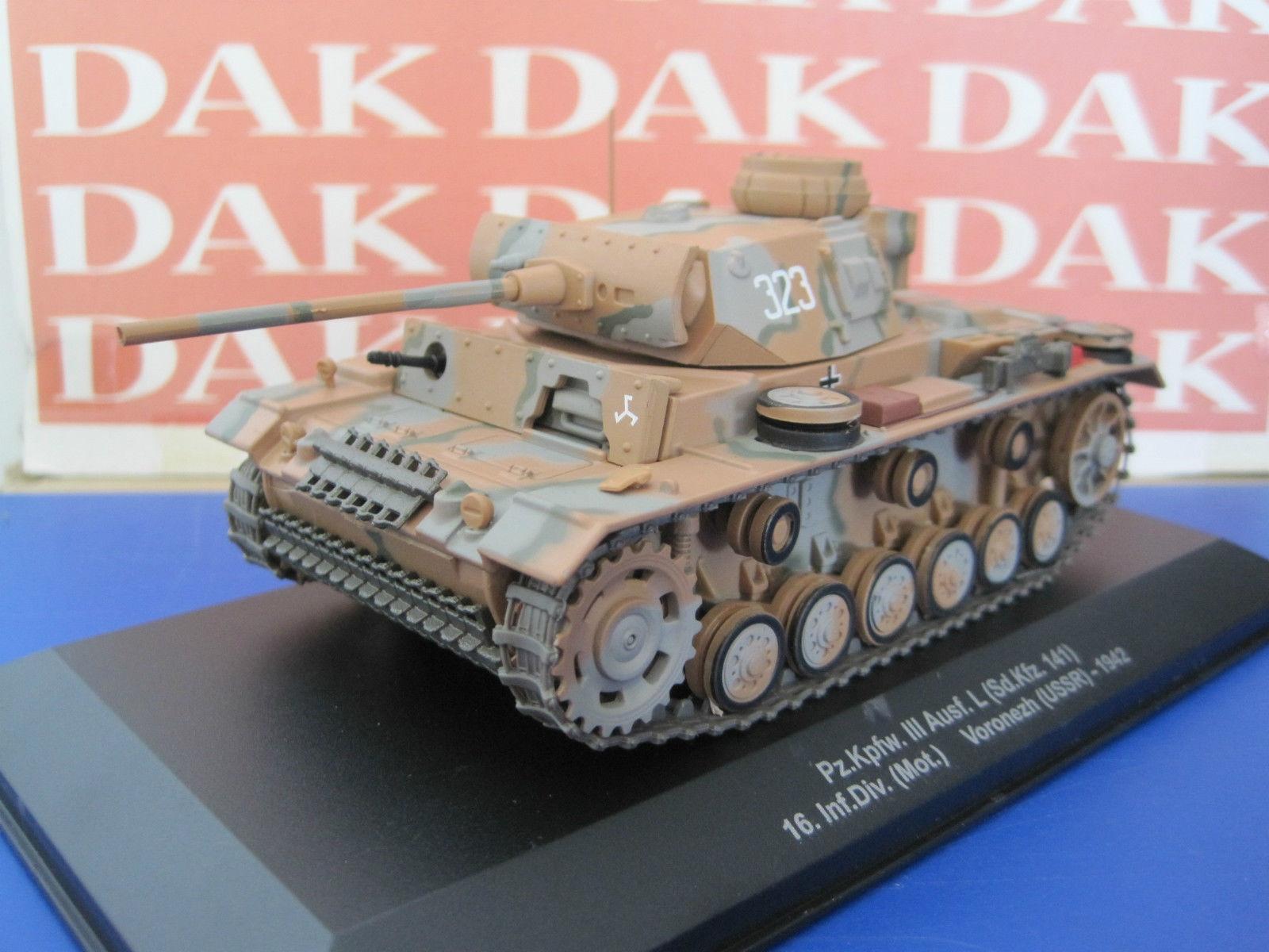 Diecast 1//72 Modellino Carro Armato Tank Pz.Kpfw.III Ausf.L Sd.Kfz. 141-1 USSR