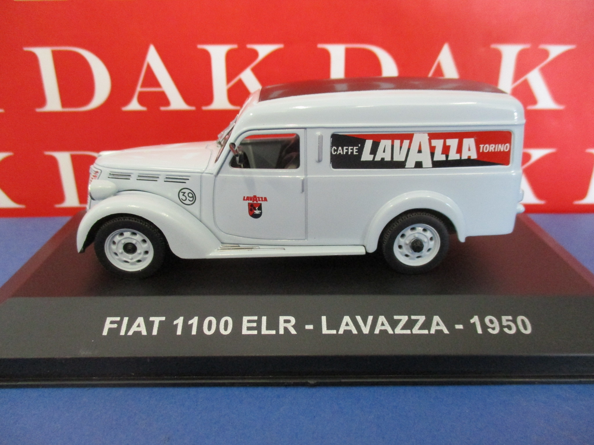 Die cast 1//43 Modellino Furgone Pubblicitario Fiat 1100 ELR Lavazza 1950