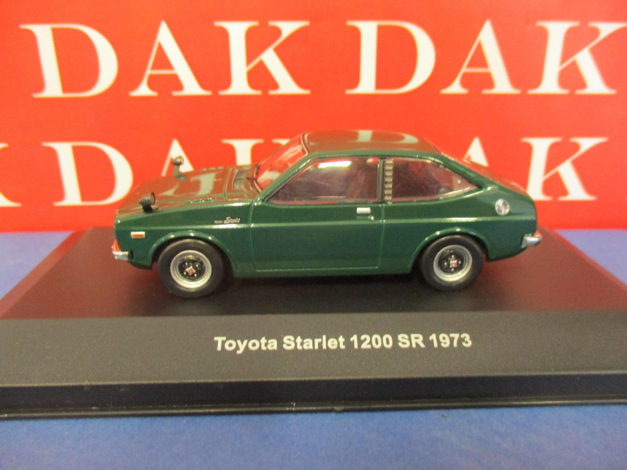 Toyota Starlet 1200 Sr 1973 Green Metallic Diecast 1:43 Ixo