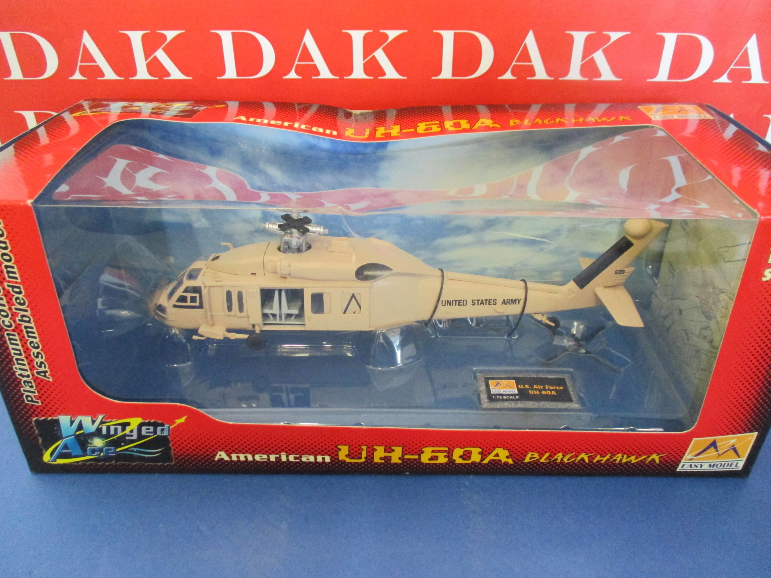 Die cast 1//72 Modellino Elicottero Helicopter Sikorsky UH-60A Black Hawk USA
